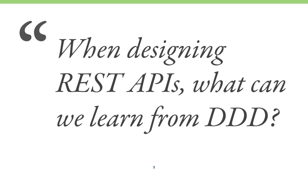 When designing REST APIs, what can we learn fro...