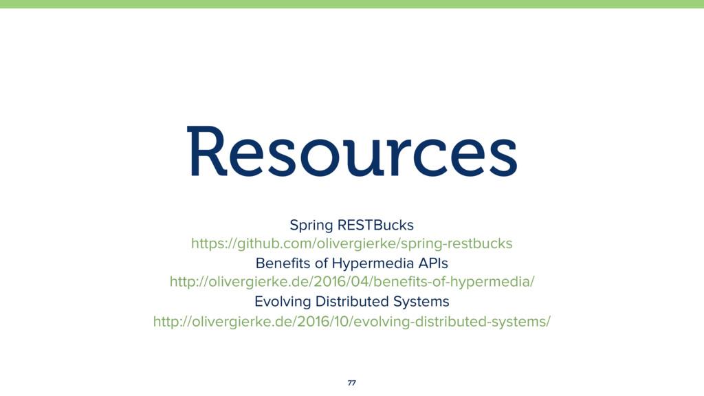 Resources 77 Spring RESTBucks https://github.c...