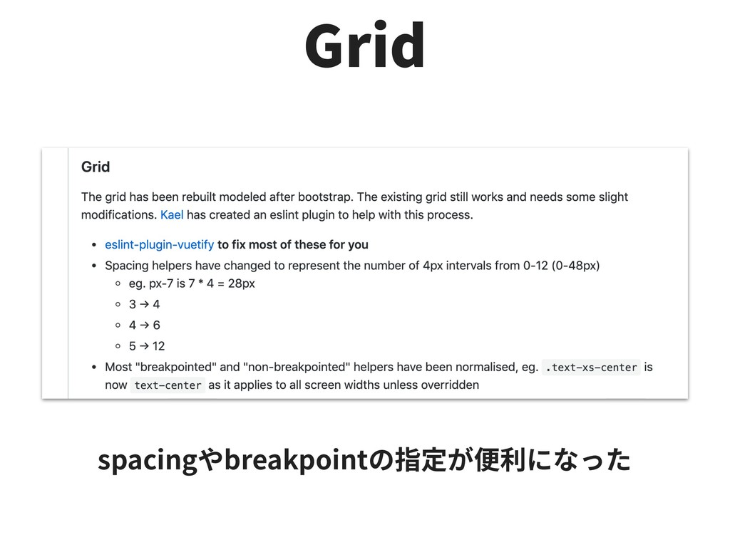 Grid spacing breakpoint