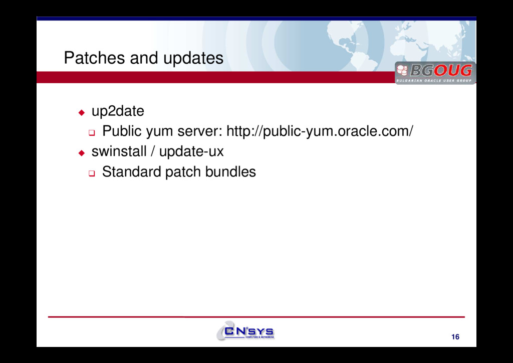 www.cnsys.bg Patches and updates up2date Public...