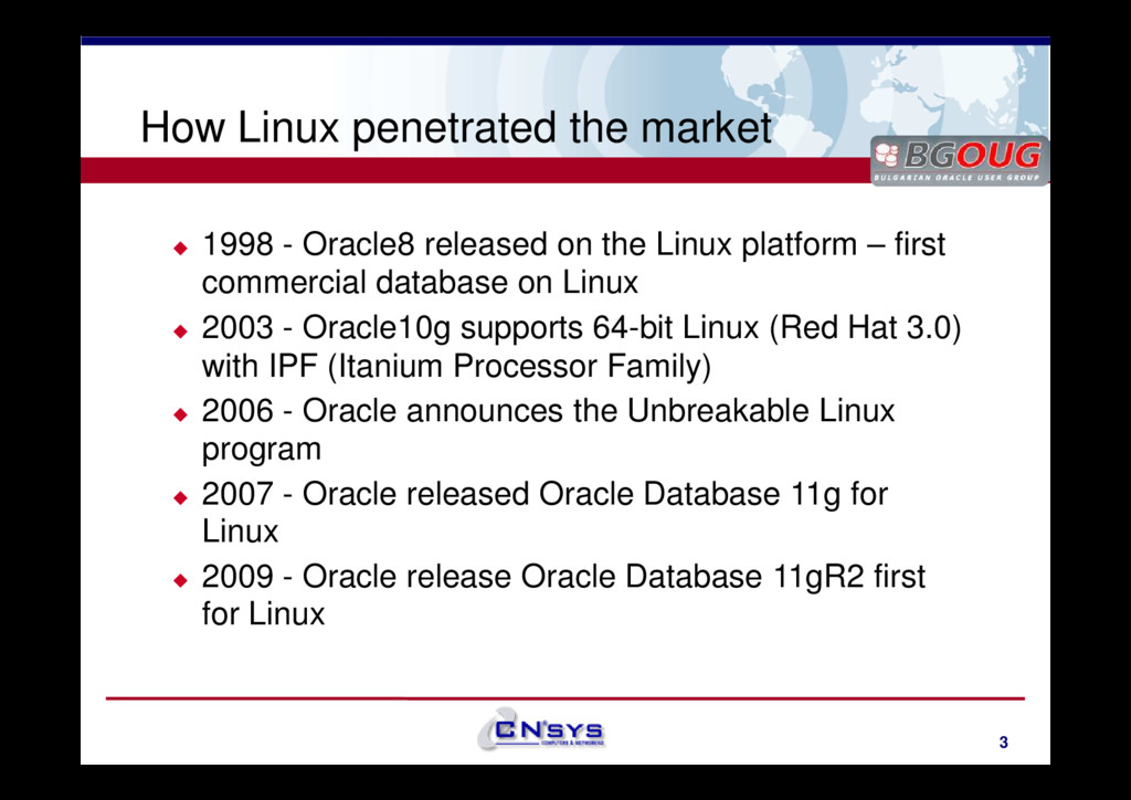 www.cnsys.bg How Linux penetrated the market 19...