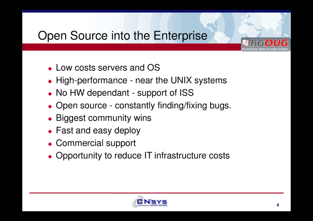 www.cnsys.bg Open Source into the Enterprise Lo...