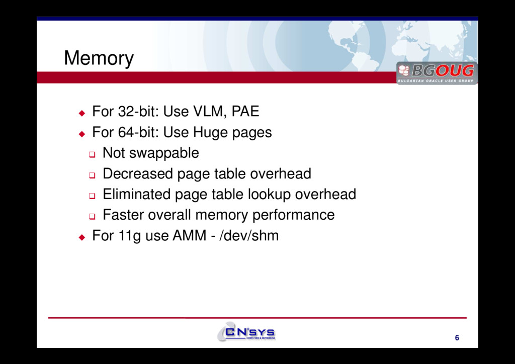 www.cnsys.bg Memory For 32-bit: Use VLM, PAE Fo...
