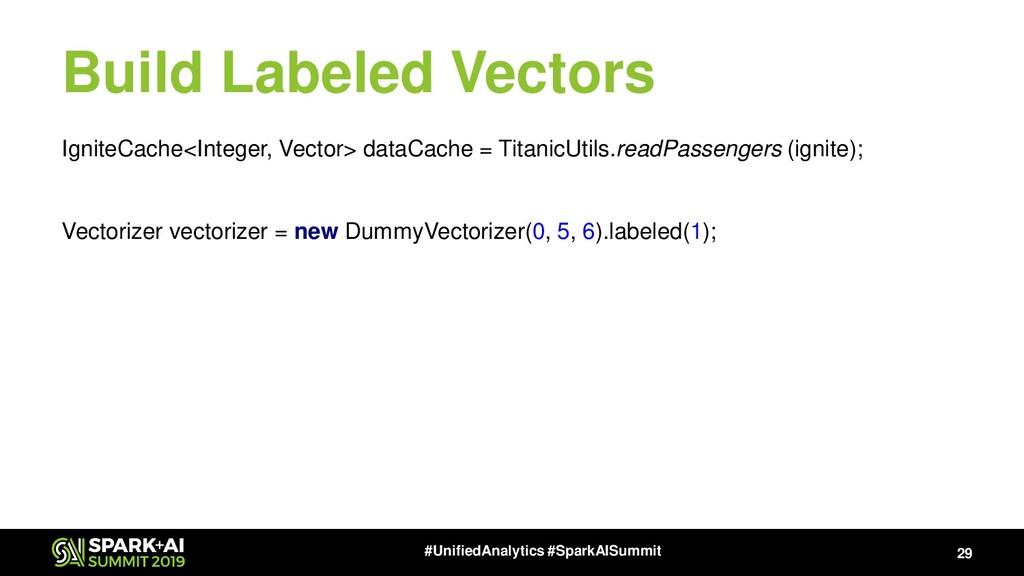 29 #UnifiedAnalytics #SparkAISummit Build Label...