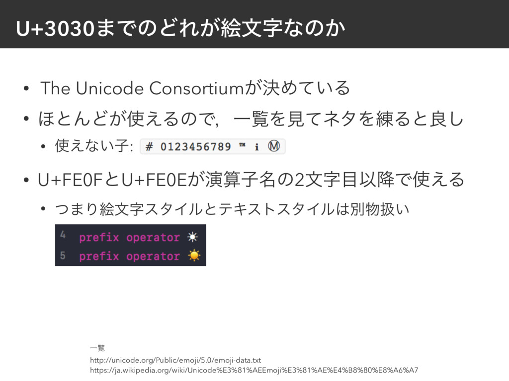 U+3030·ͰͷͲΕ͕ֆจͳͷ͔ • The Unicode Consortium͕ܾΊͯ...