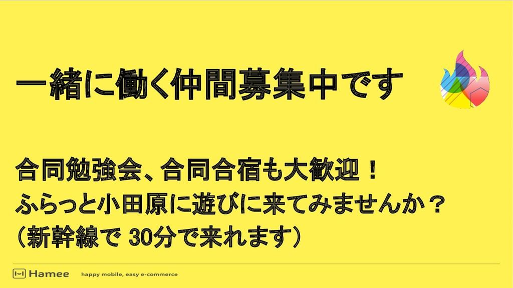 一緒に働く仲間募集中です  合同勉強会、合同合宿も大歓迎! ふらっと小田原に遊びに来てみ...