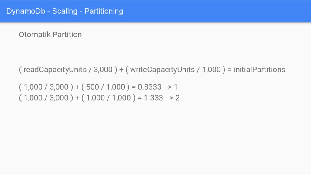 DynamoDb - Scaling - Partitioning Otomatik Part...