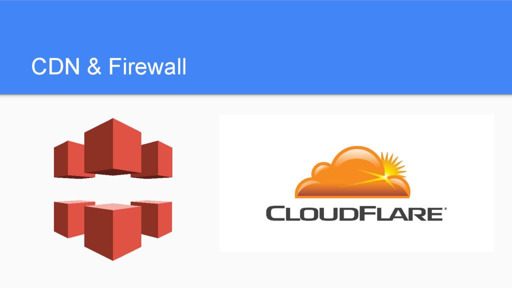 CDN & Firewall