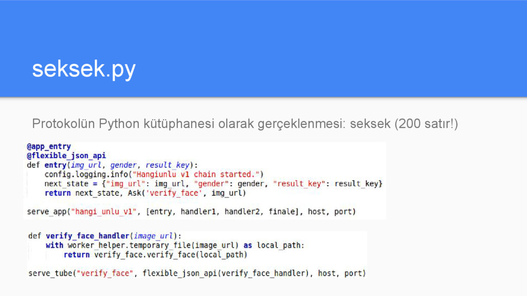 seksek.py Protokolün Python kütüphanesi olarak ...