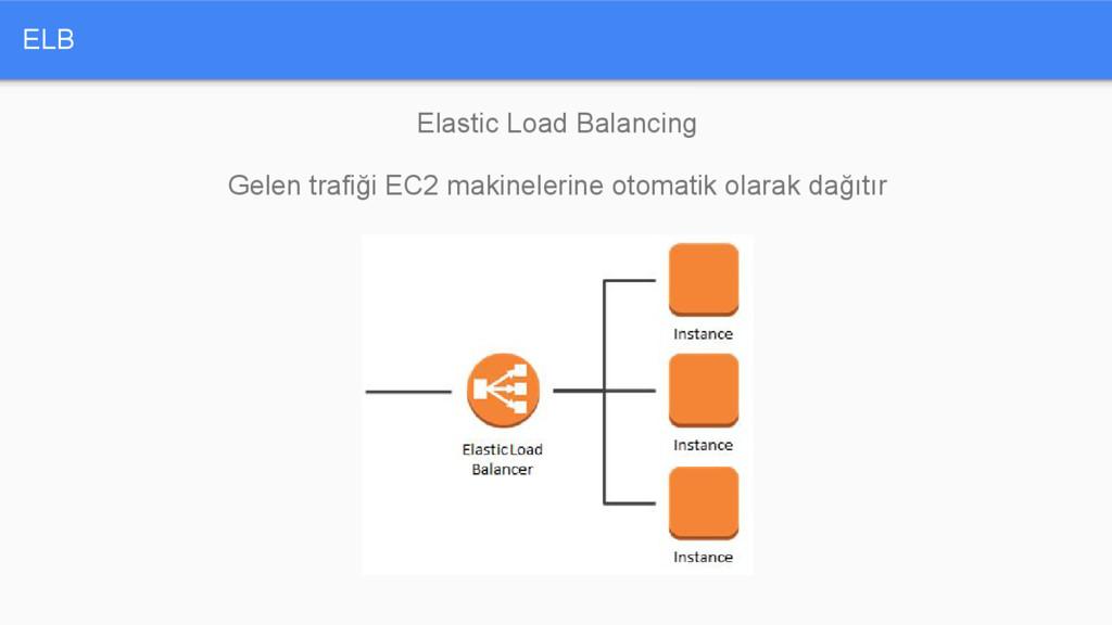 ELB Elastic Load Balancing Gelen trafiği EC2 ma...