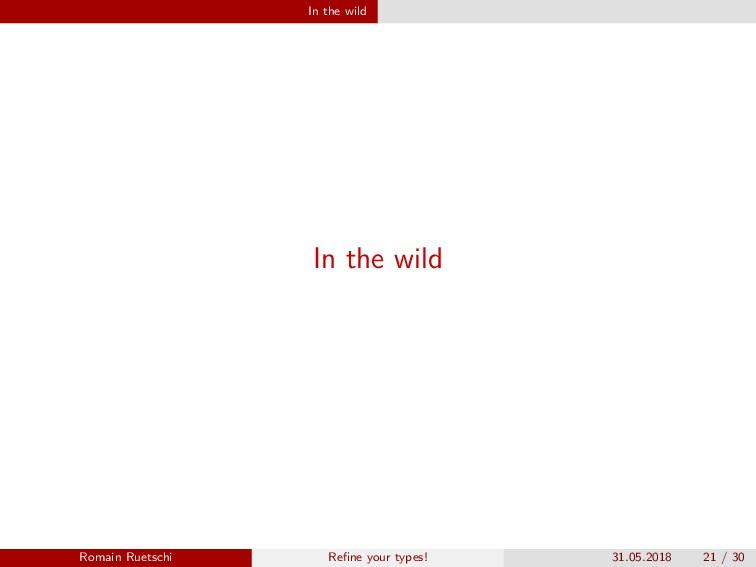 In the wild In the wild Romain Ruetschi Refine y...