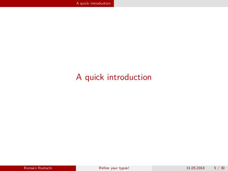 A quick introduction A quick introduction Romai...