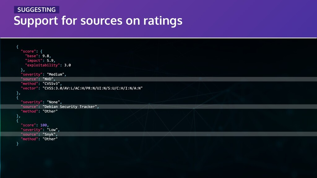 Support for sources on ratings _SUGGESTING_