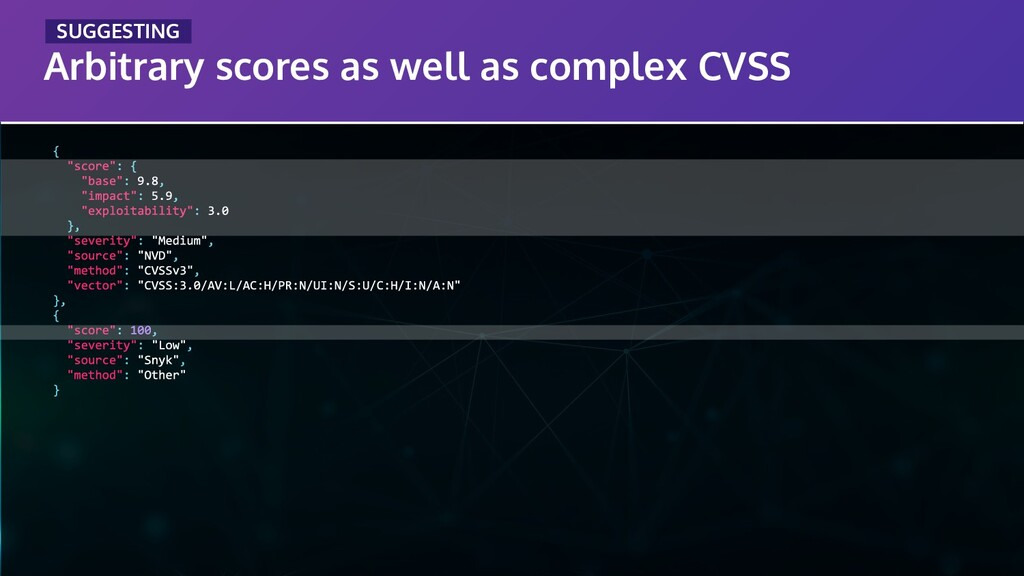Arbitrary scores as well as complex CVSS _SUGGE...