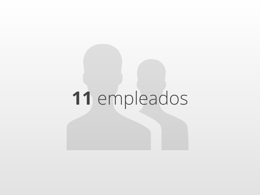 11 empleados