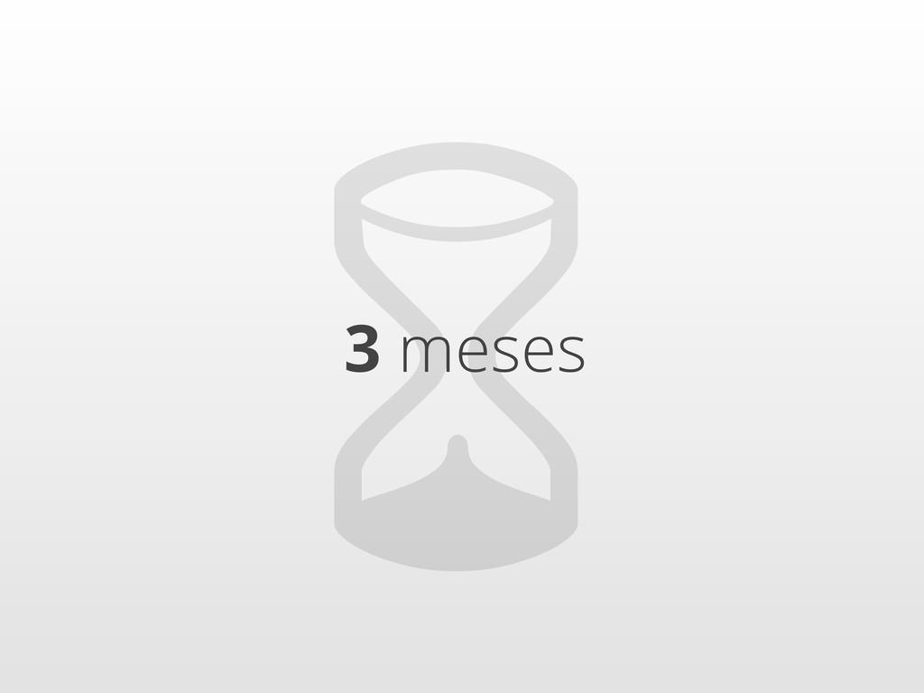 ⏳ 3 meses
