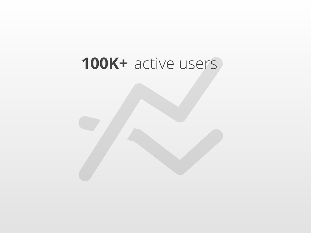 100K+ active users