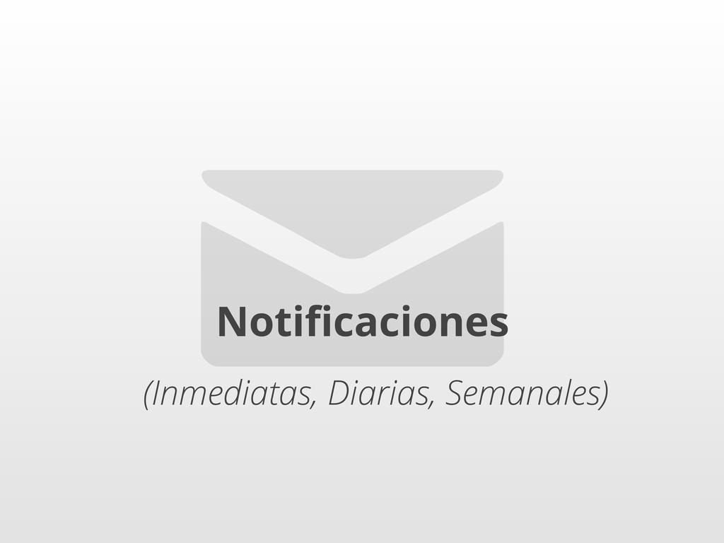 ✉ Notificaciones (Inmediatas, Diarias, Semanales)