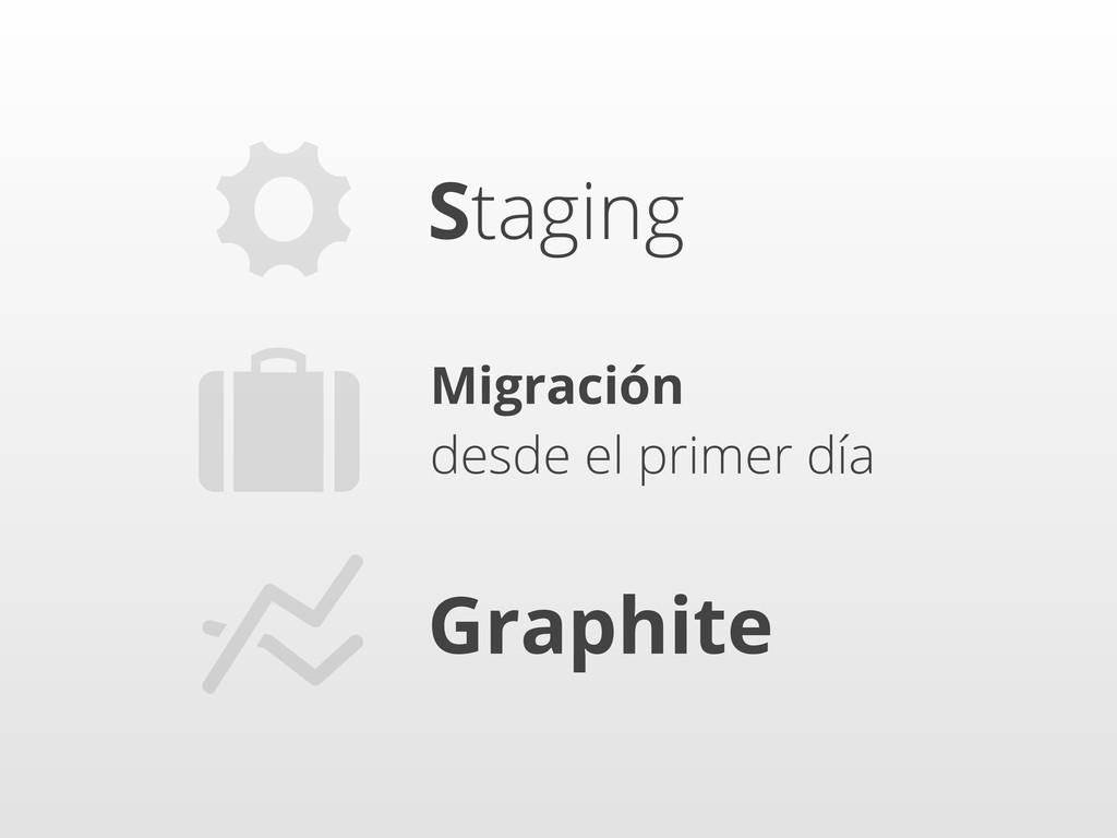 ⚙ Staging Graphite Migración desde el primer dí...