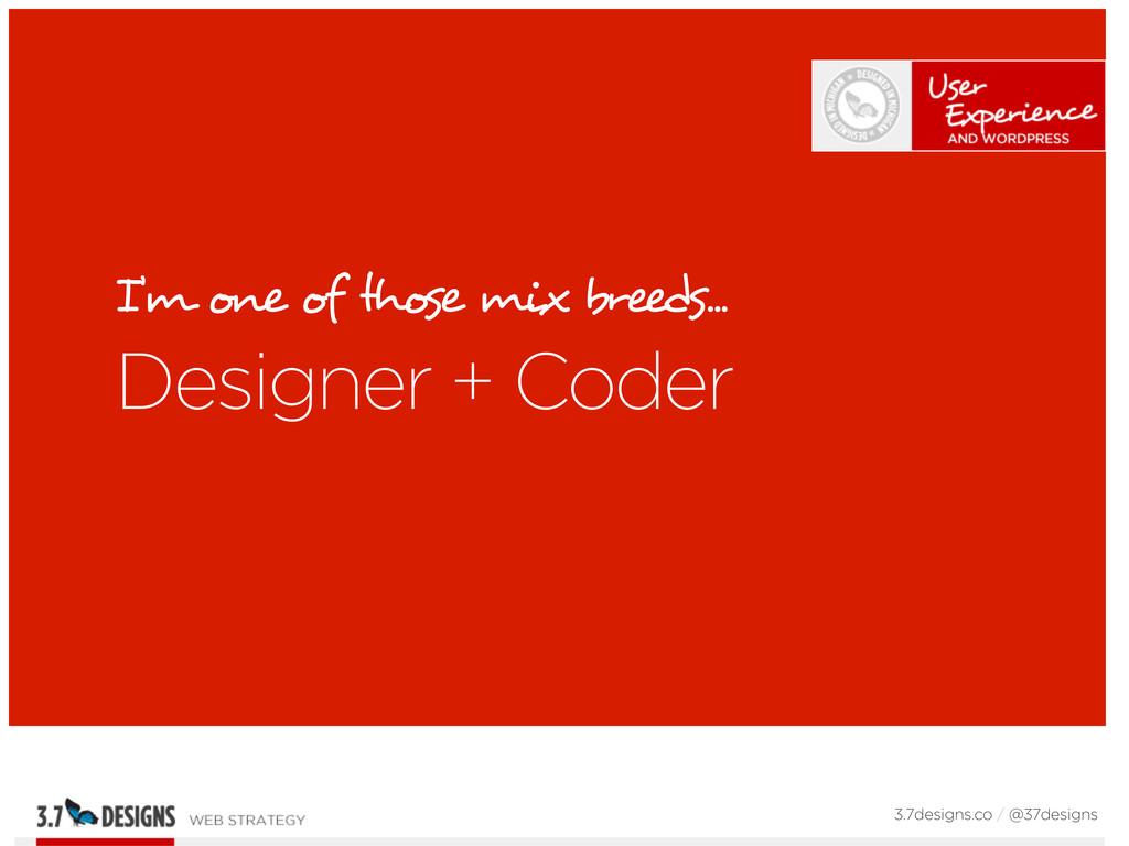 I'm one of those mix breeds... Designer + Coder...