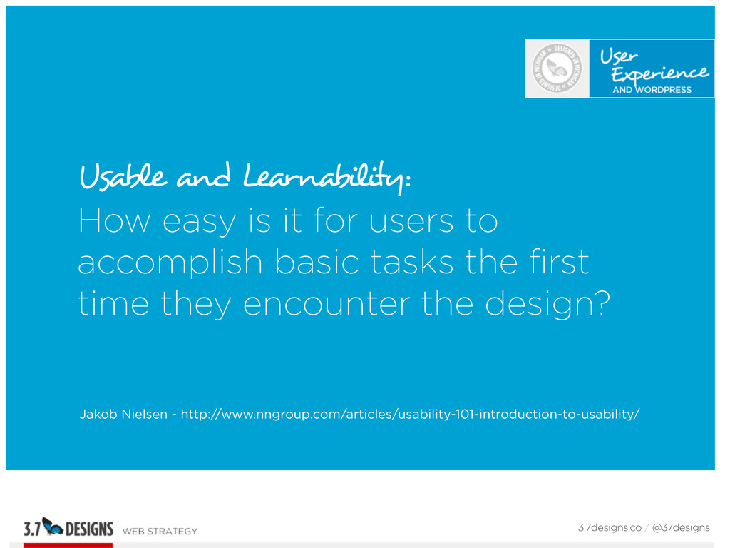 Usable and Learnability: How easy is it for use...