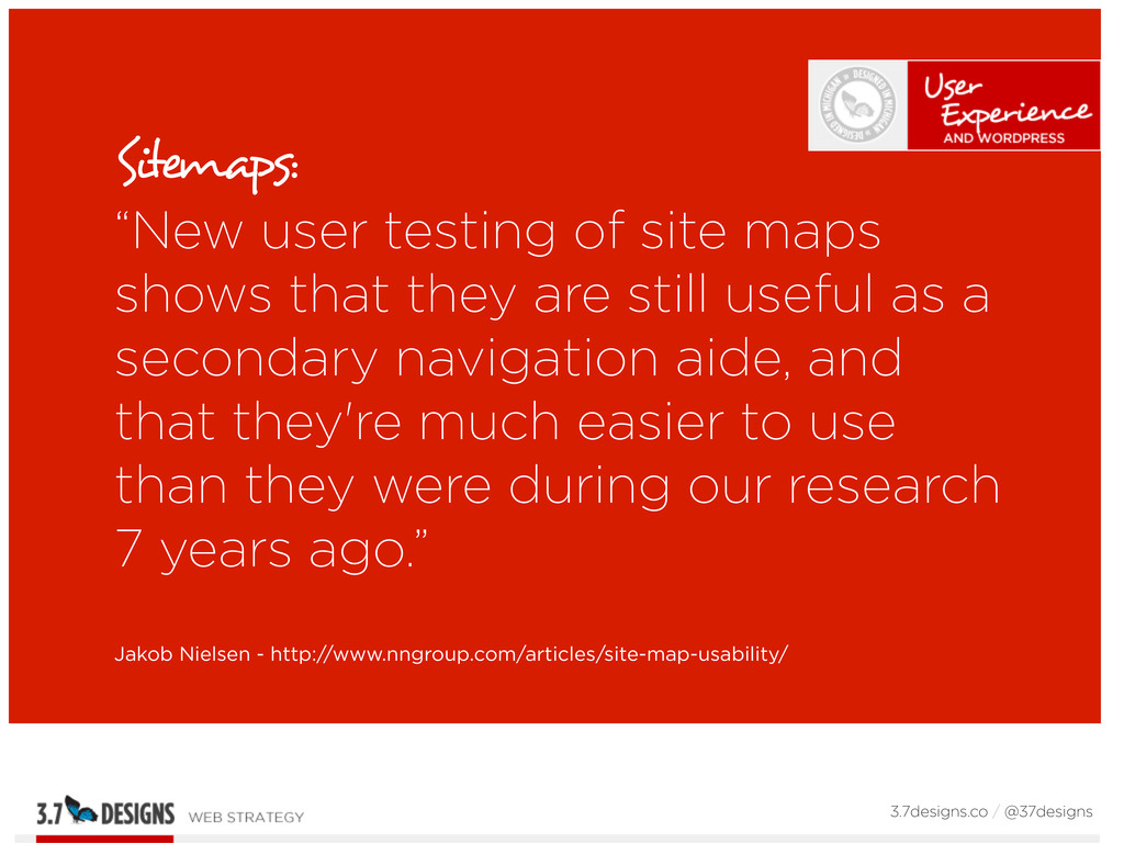 """Sitemaps: """"New user testing of site maps shows ..."""