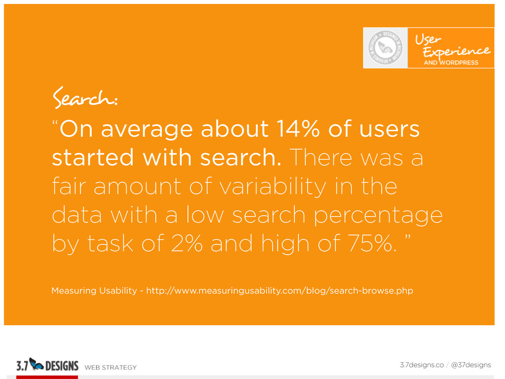 """Search: """"On average about 14% of users started ..."""