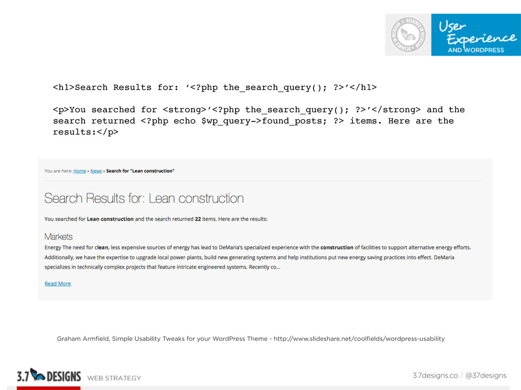 <h1>Search Results for: '<?php the_search_query...