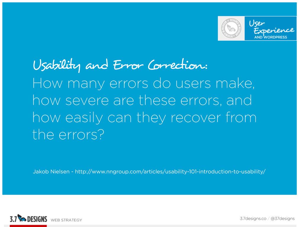 Usability and Error C orrection: How many error...