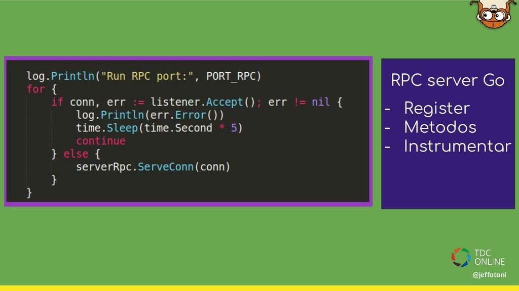 RPC server Go - Register - Metodos - Instrument...