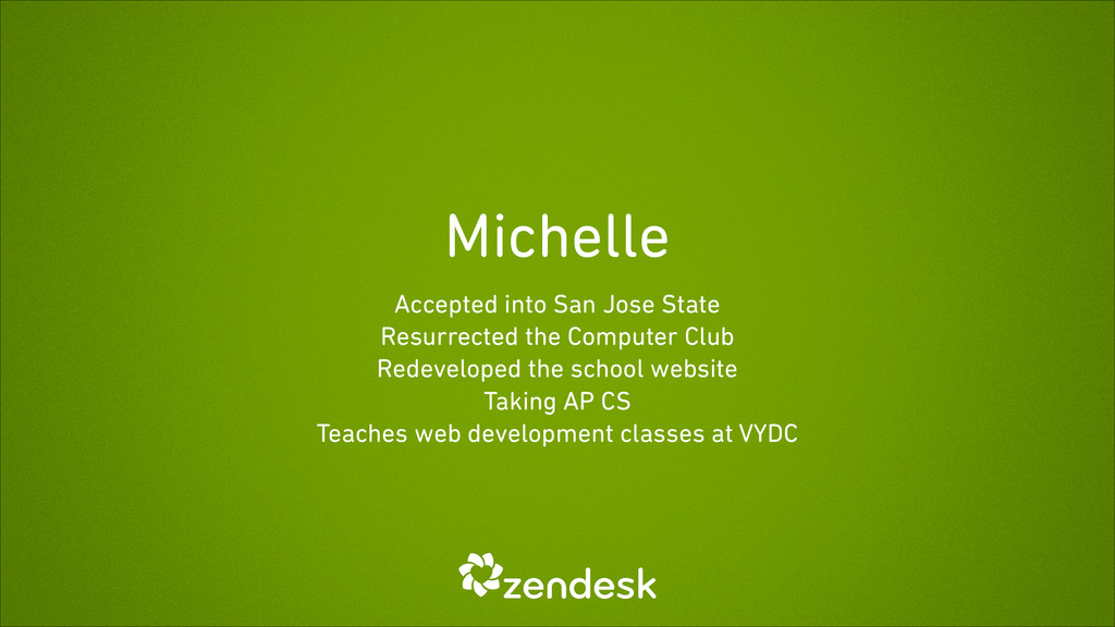 Michelle Accepted into San Jose State Resurrect...