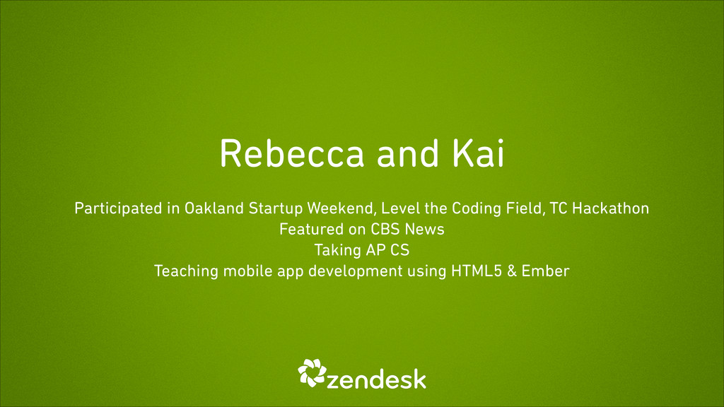 Rebecca and Kai Participated in Oakland Startup...