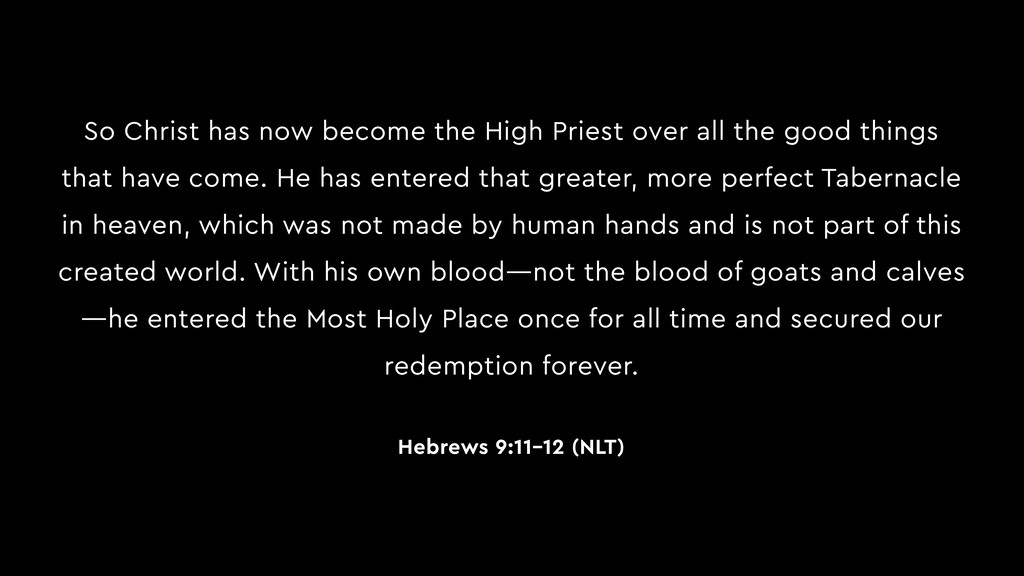 So Christ has now become the High Priest over a...