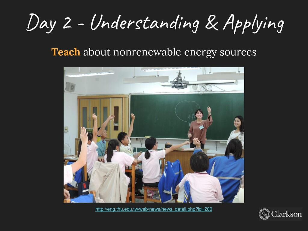 Day 2 - U nderstanding & A pplying Teach about ...