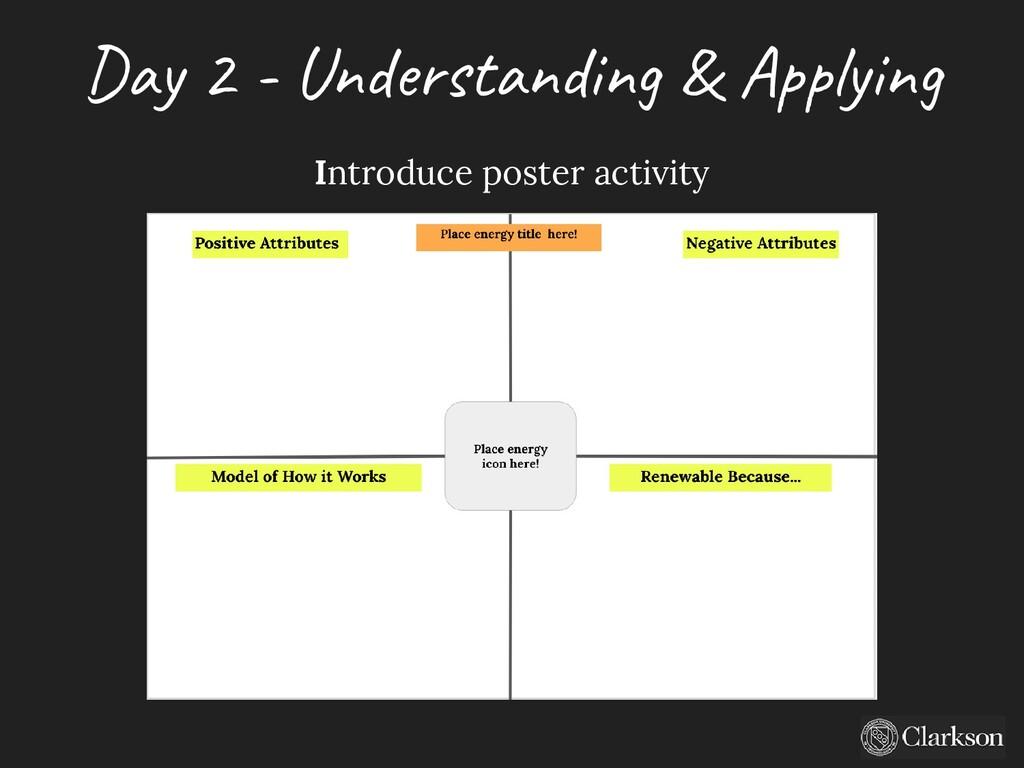 Day 2 - U nderstanding & A pplying Introduce po...