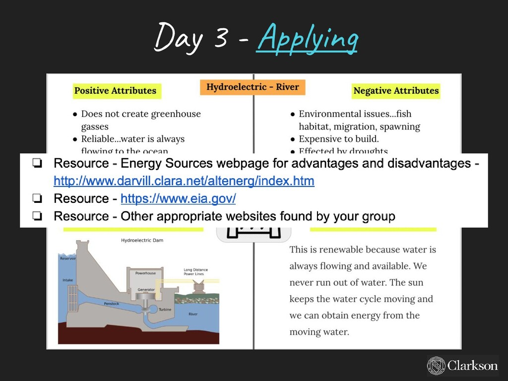 Day 3 - A pplying