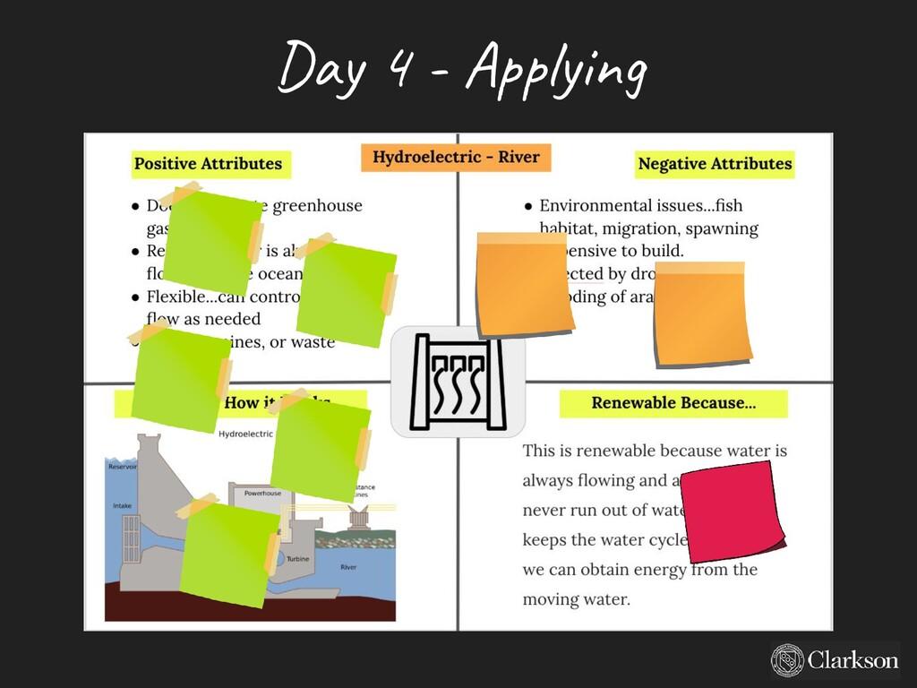 Day 4 - A pplying
