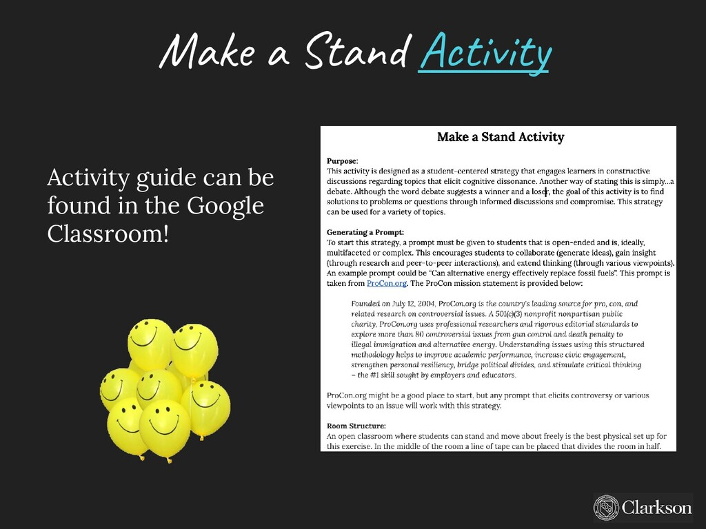 Make a Stand A ctivity Activity guide can be fo...