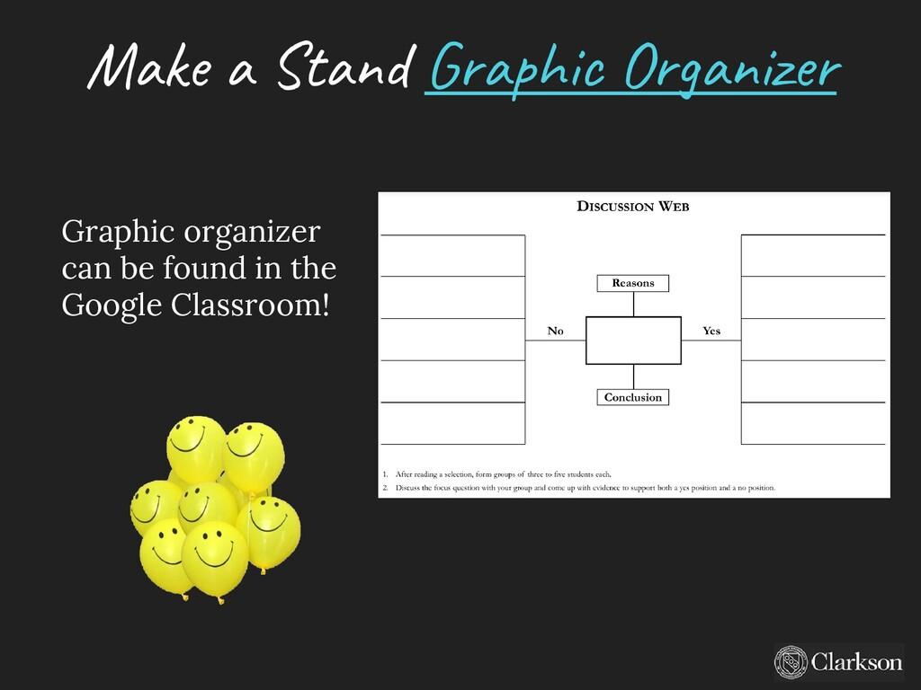 Make a Stand G raphic O rganizer Graphic organi...