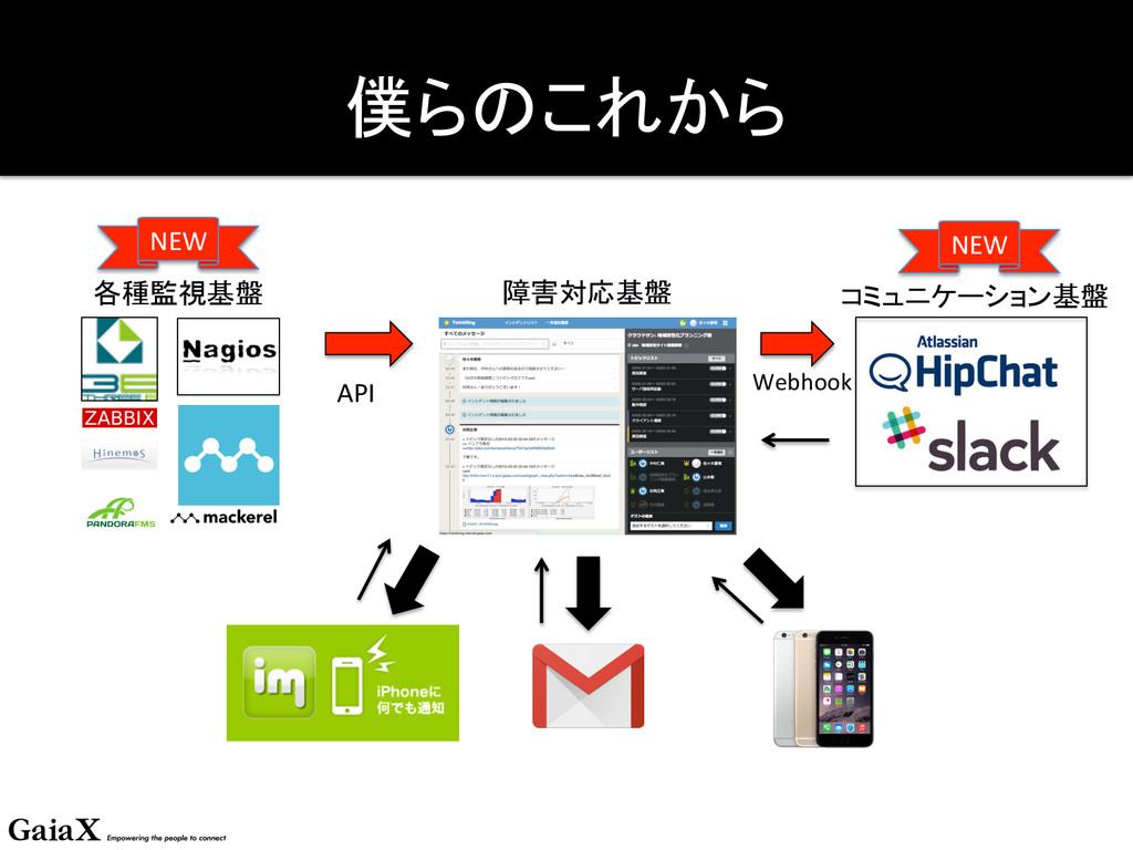 僕らのこれから 障害対応基盤 コミュニケーション基盤 各種監視基盤 API...
