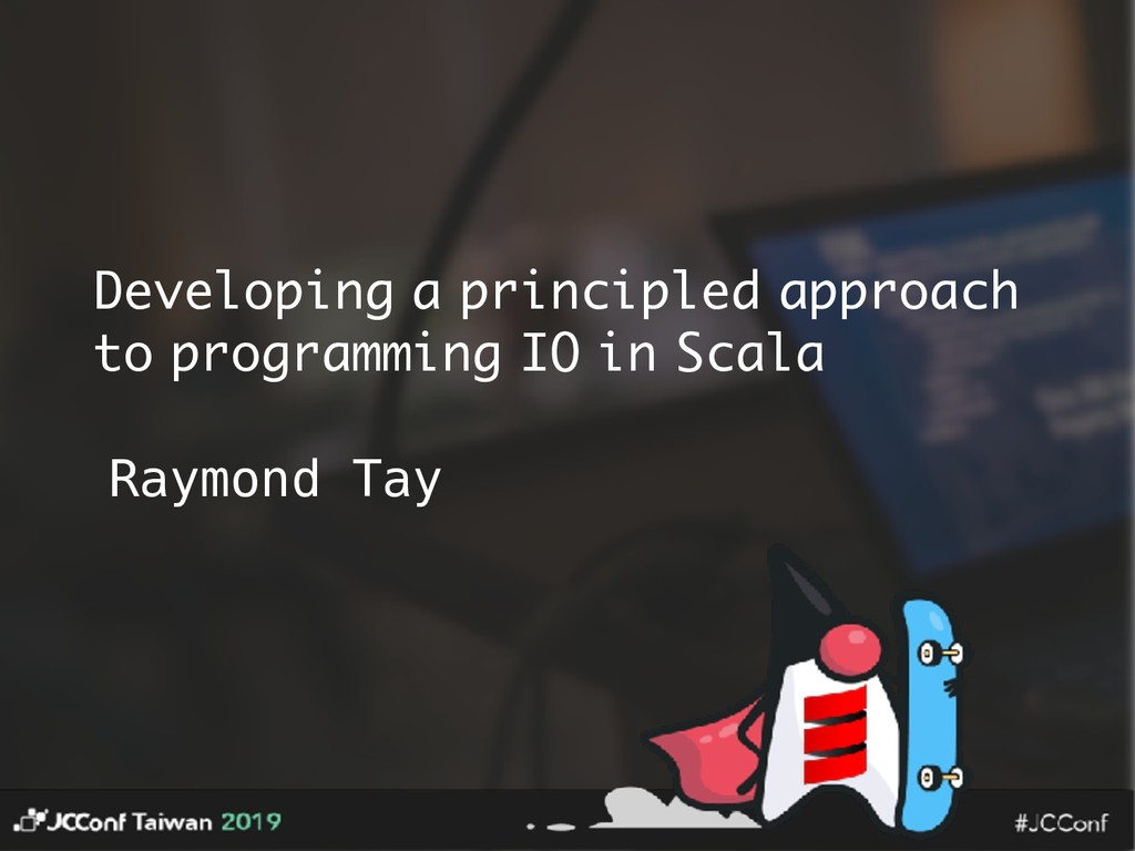 Developing a principled approach to programming...