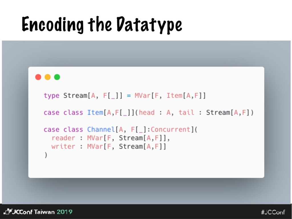 Encoding the Datatype