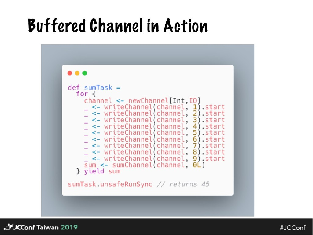 Buffered Channel in Action