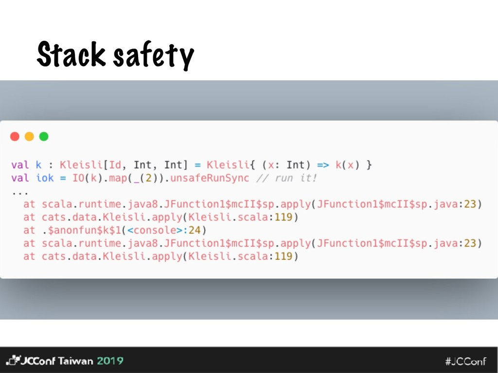 Stack safety