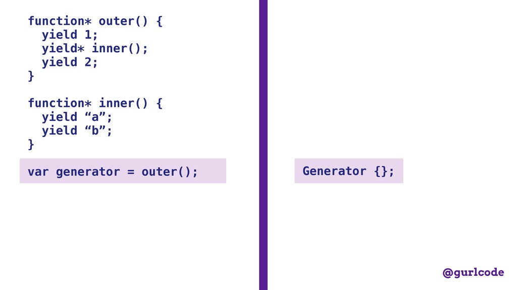 function* outer() { yield 1; yield* inner(); yi...