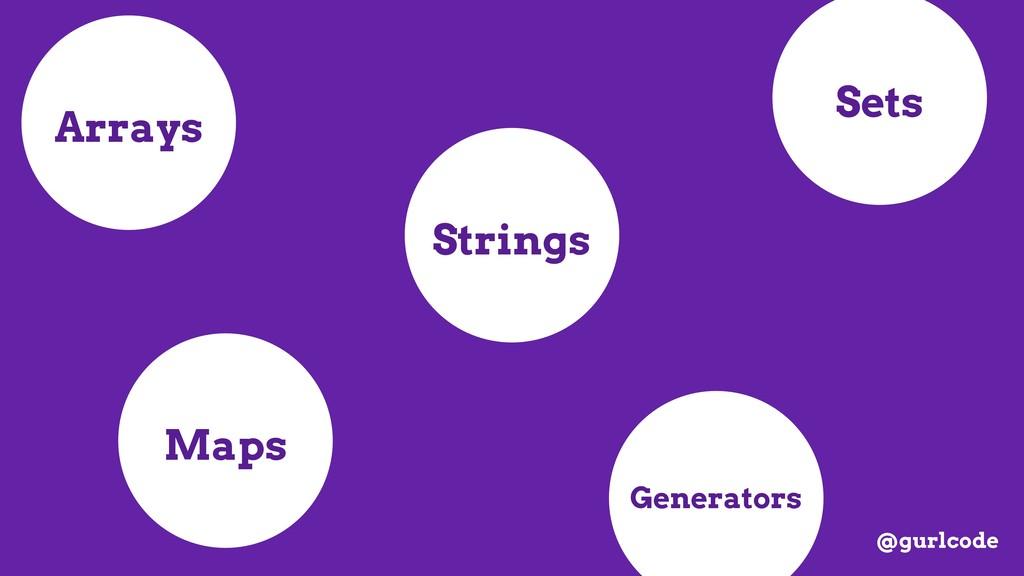 Arrays Strings Maps Sets Generators @gurlcode