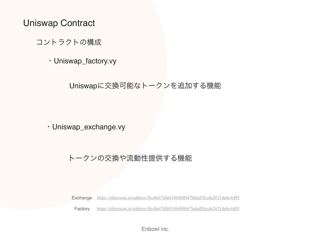 Enbowl inc. Uniswap Contract ɾUniswap_exchange....