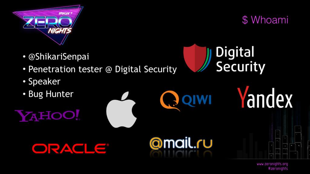 • @ShikariSenpai • Penetration tester @ Digital...