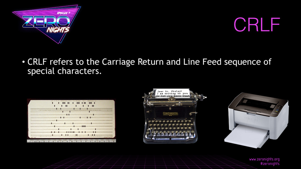 CRLF • CRLF refers to the Carriage Return and L...