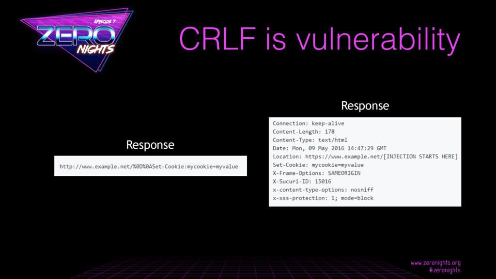CRLF is vulnerability Response Response